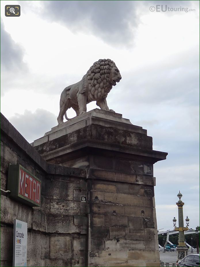 Marble Lion Statue NW Corner Wall Tuileries Gardens