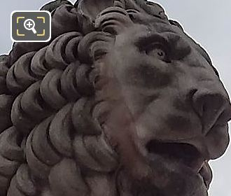 Lion Statue Sculpted By Giuseppe Franchi