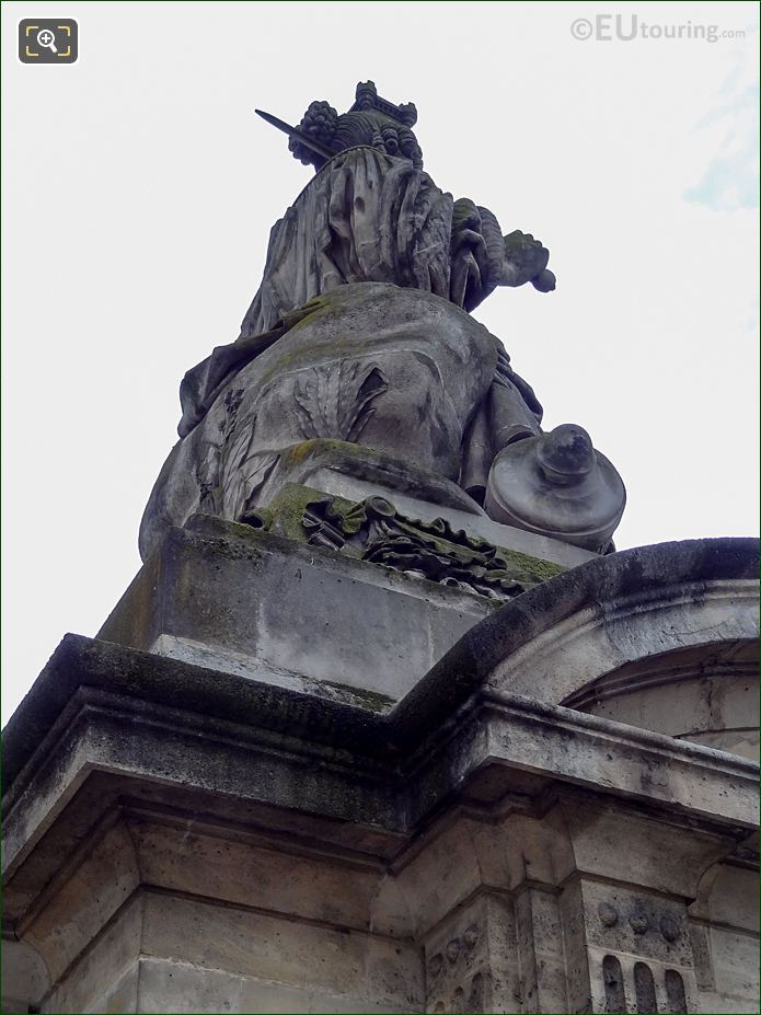 Back And Right Hand Side Of Lille Statue
