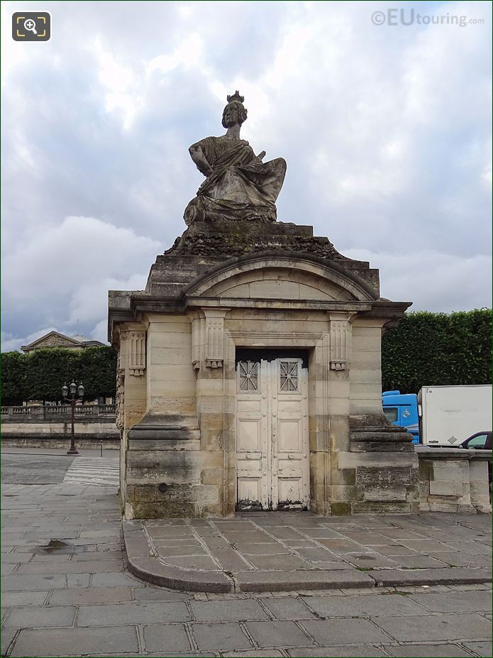 The Strasbourg Statue On Its Guardhouse