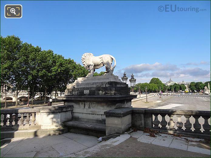 North Side Of Lion Statue In Jardin Des Tuileries