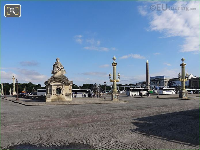 Place De La Concorde With City Of Marseille Statue On Pavillion