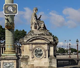 City Of Marseille Statue In Place De La Concorde