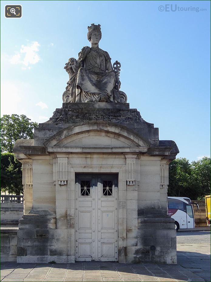 Front Of City Of Lyon Statue Within Place De La Concorde