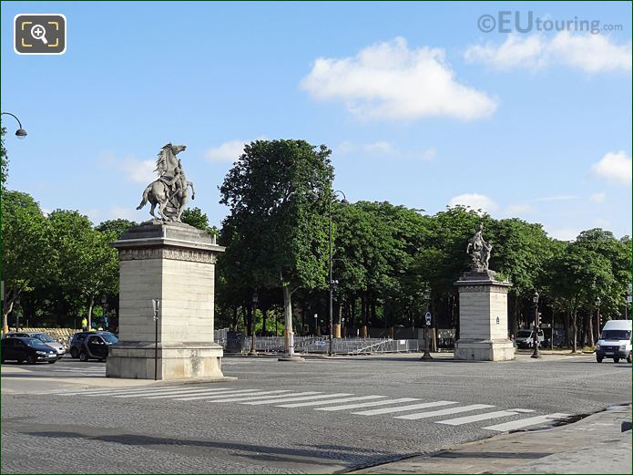 North And South Horse Of Marly Statues At Place De La Concorde