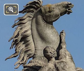 North Side Horse Of Marly Statue By Sculptor Guillaume Coustou