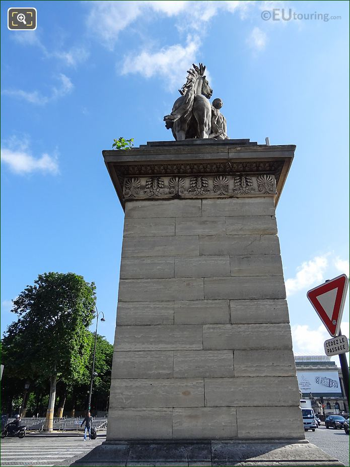 Back Of The Horse Of Marly Statue