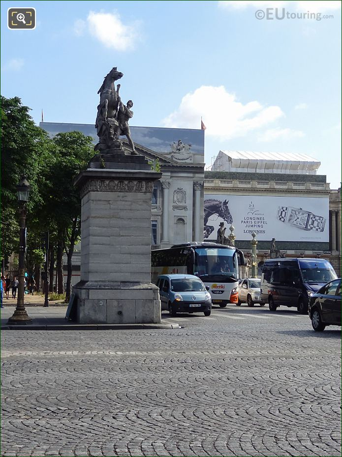 Front View Of The Horse Of Marly Statue