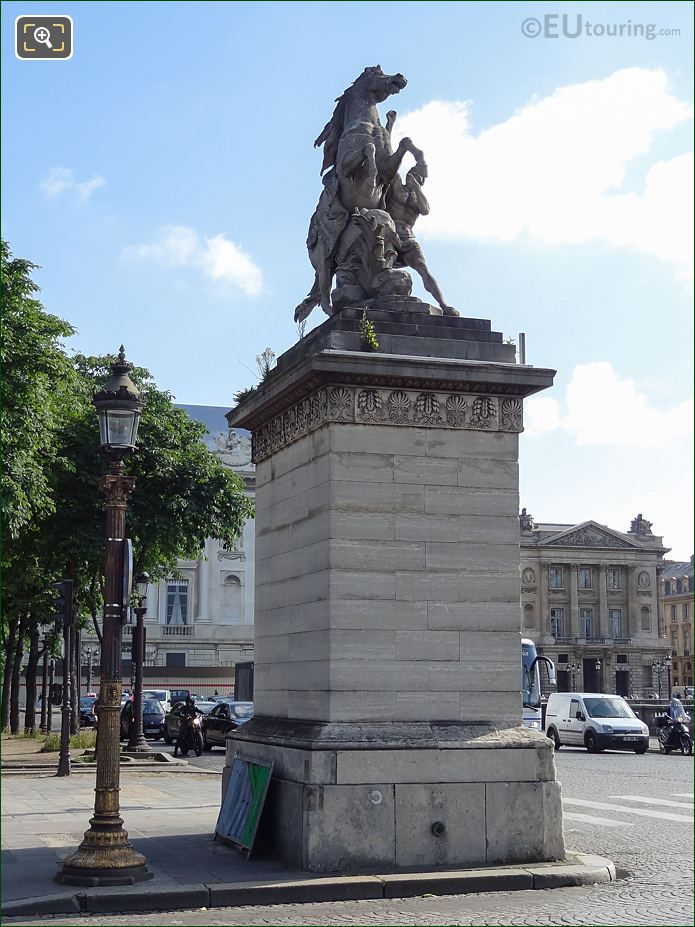 Front And Right Hand Side Of Horse Of Marly Statue