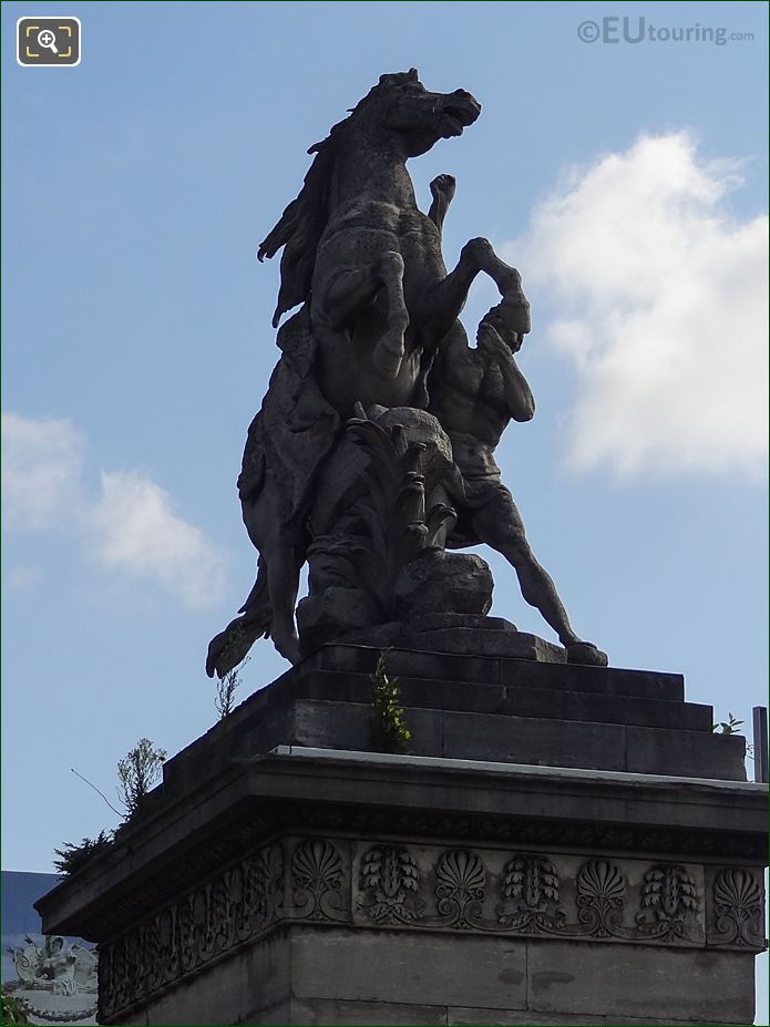 Horse Restrained By A Groom Statue