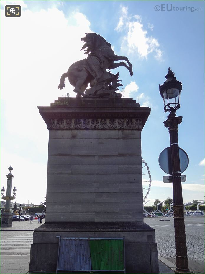 Right Hand Side Of The Horse Of Marly Statue