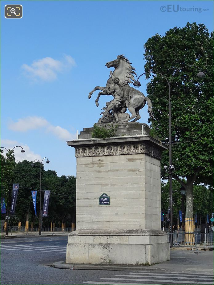 South Side Horse Of Marly Statue At Place De La Concorde