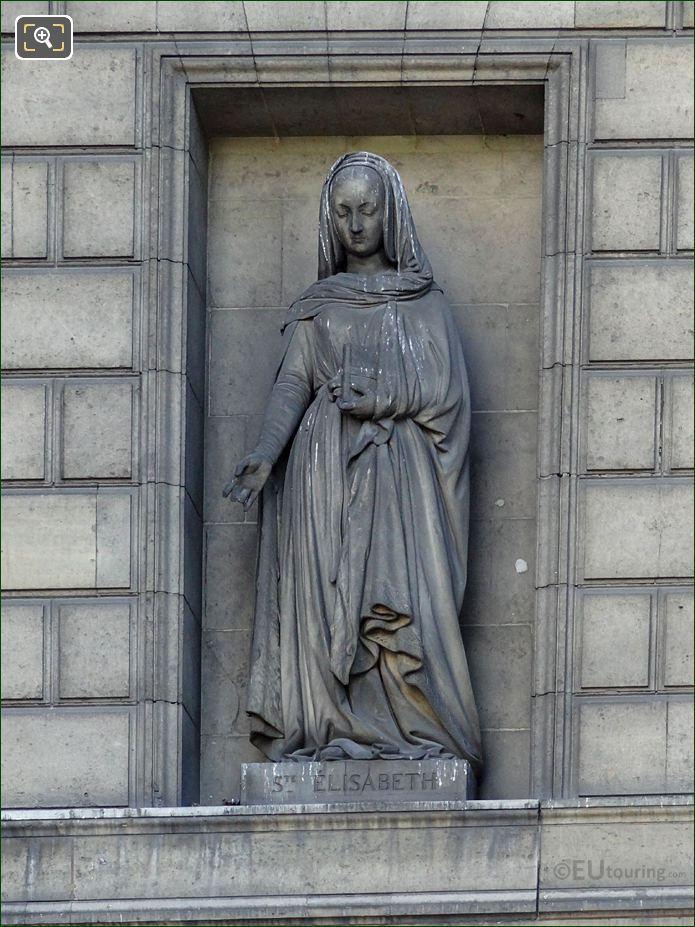 Saint Elisabeth Statue By Louis Denis Caillouette
