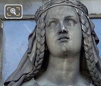 Saint Marguerite d'Ecosse Statue By Francois Augustin Caunois