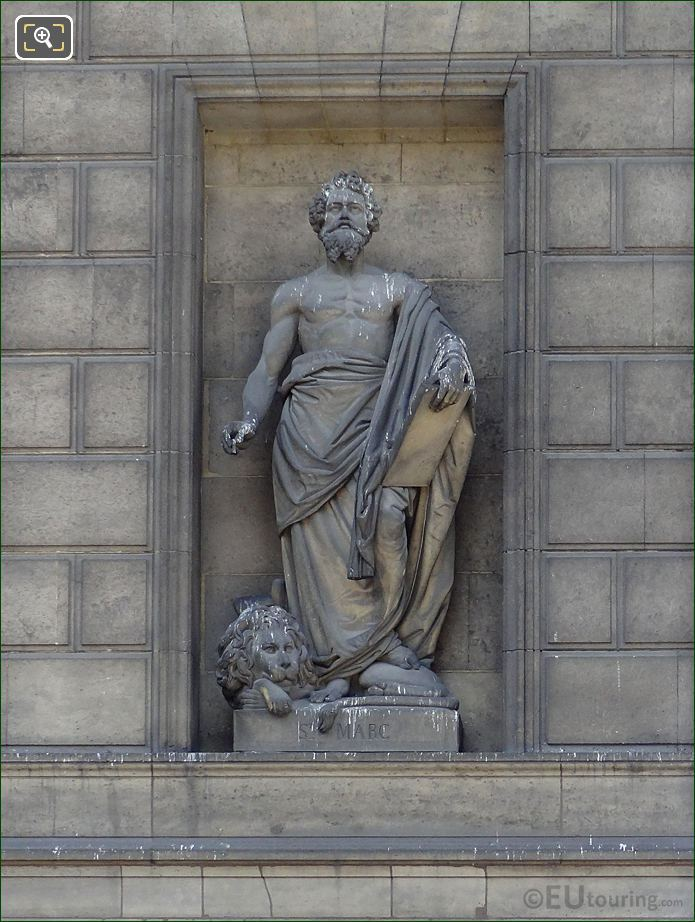Saint Marc Statue On North Facade Eglise De La Madeleine
