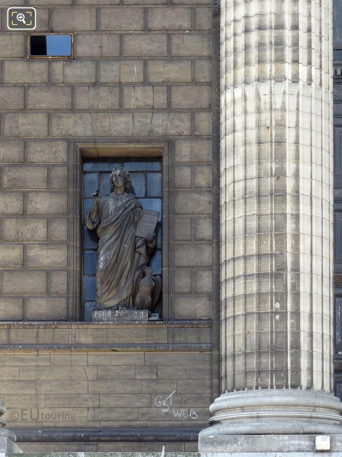 Saint Jean Statue On Eglise De La Madeleine