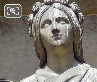 Sainte Cecile Statue By Sculptor Augustin Dumont