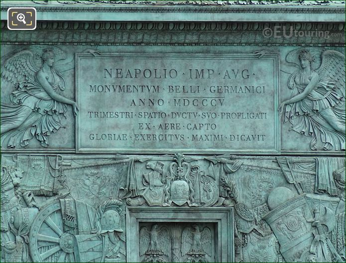 Napoleon Emperor Inscription On Colonne De Vendome