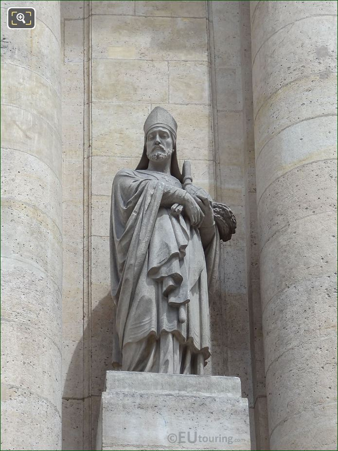 Saint Honore Statue On Eglise Saint-Roch In Paris
