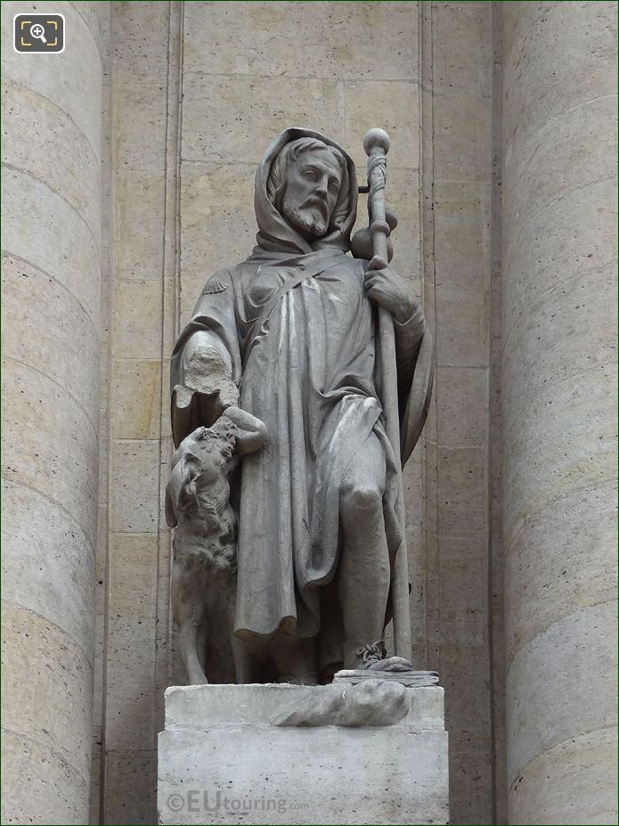 Saint Roch Statue On Eglise Saint-Roch