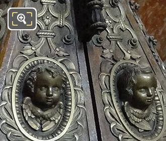 Sculpted Casing On La Fontaine Baptismale In Eglise Saint-Roch