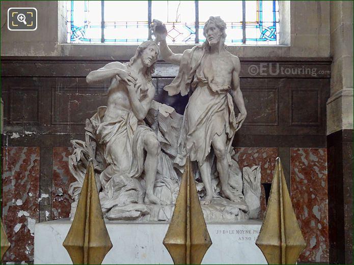 Baptism Of Jesus Statue In Saint-Jean-Baptiste Chapel Of Eglise Saint-Roch