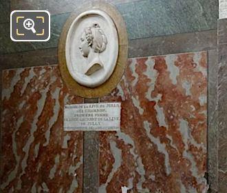 Mme La Live De Jully Medallion Inside Eglise Saint-Roch