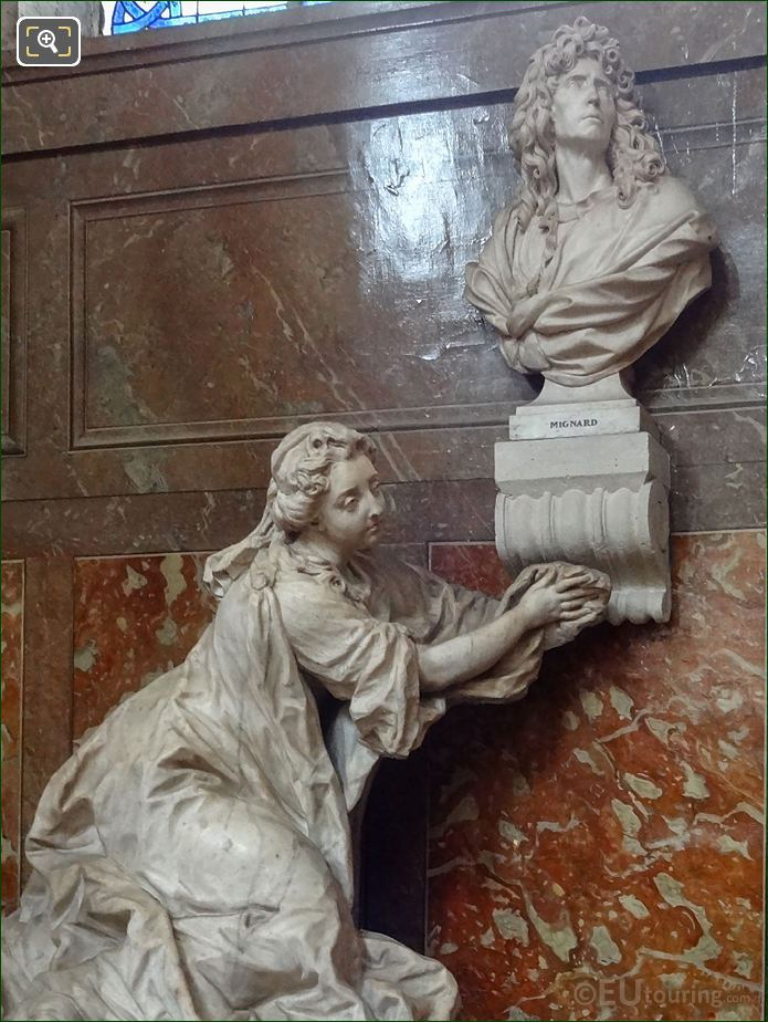 Pierre Mignard And Countess Feuquieres Monument By Jean-Baptiste II Lemoyne