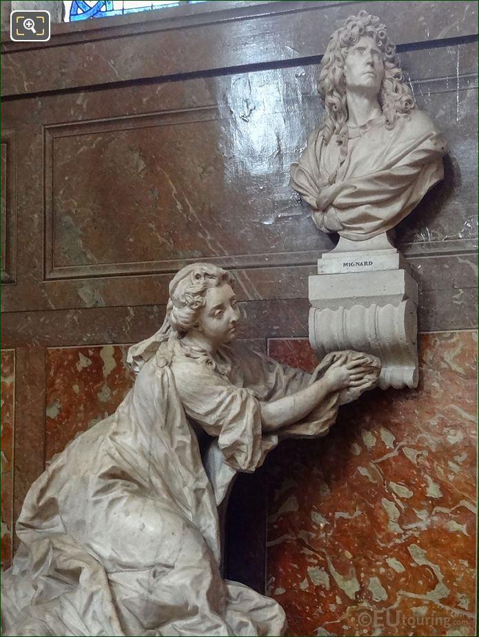 Pierre Mignard And Countess Feuquieres Monument By Jean-Baptiste II Lemoyne
