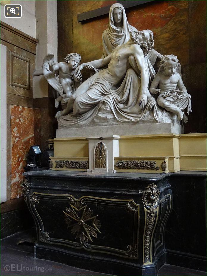 La Pieta Statue Group Inside Eglise Saint-Roch