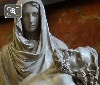 La Pieta Statue Group By Sculptor Frederic Louis Desire Bogino