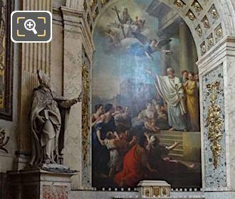 Chapelle Saint Denis With Bishop Statue At Eglise Saint-Roch