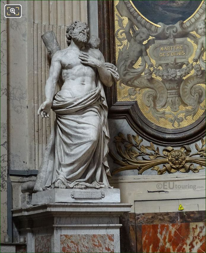 Saint Andre Statue By Jean-Jacques Pradier At Eglise Saint-Roch