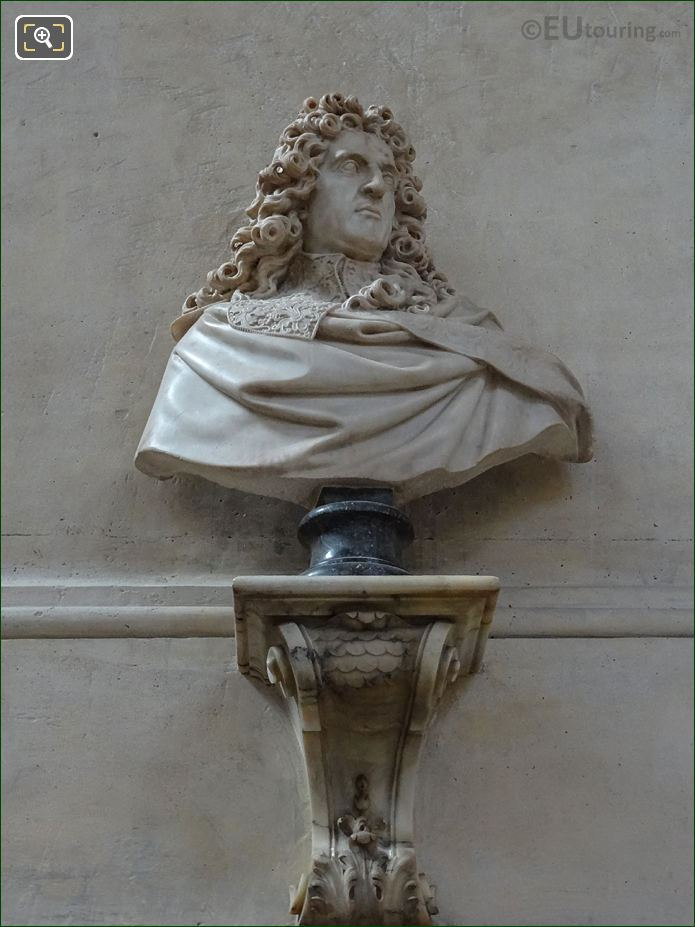 Andre Le Notre Bust By Sculptor Antoine Coysevox At Eglise Saint-Roch