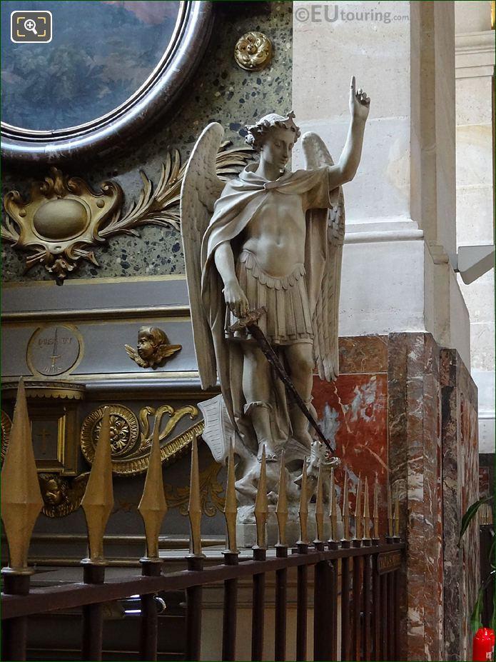 Saint Michael Statue Inside Eglise Saint-Roch