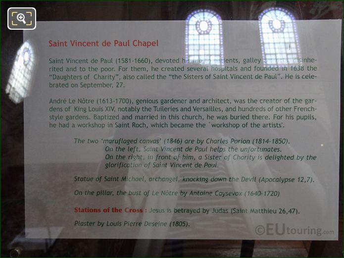 Tourist Information Board For Saint Michael Statue