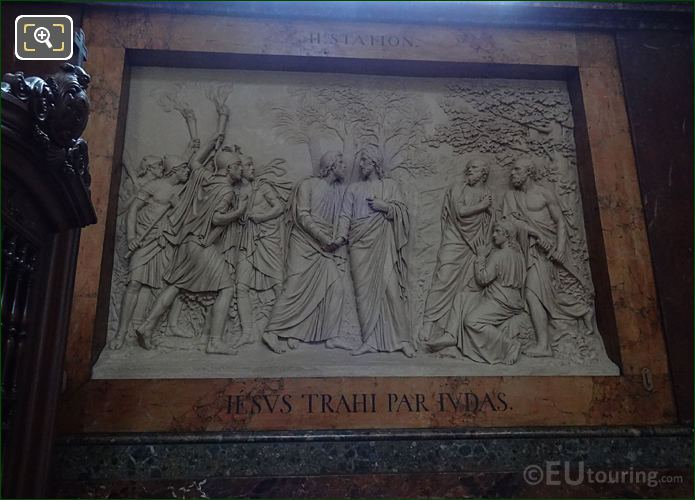 Jesus Trahi Par Judas In Chapelle Saint Vincent De Paul At Eglise Saint-Roch