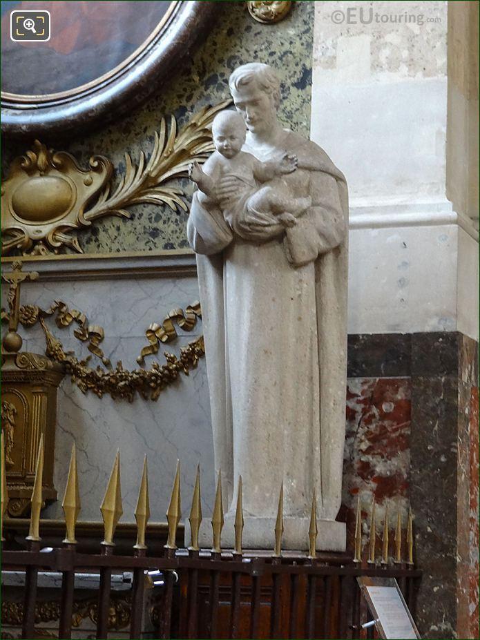 Saint Joseph Statue Holding Baby Jesus In Eglise Saint-Roch