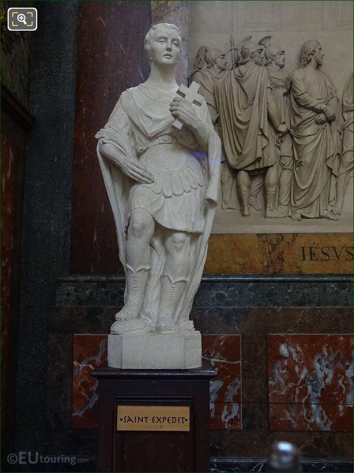 Saint Expedit Statue Inside Chapelle De Saint Joseph