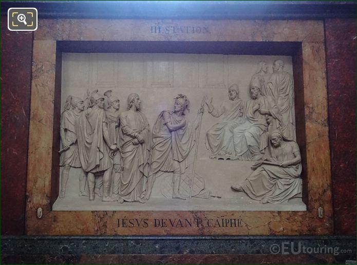 Jesus Devant Caiphe Sculpture In Chapelle De Saint Joseph At Eglise Saint-Roch