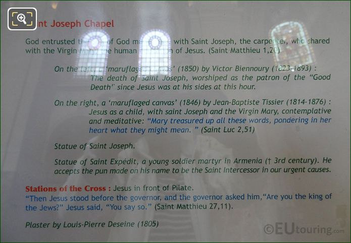 Tourist Information Board For Saint Expedit Statue