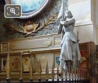 Sainte Jeanne d'Arc Statue Inside The Eglise Saint-Roch