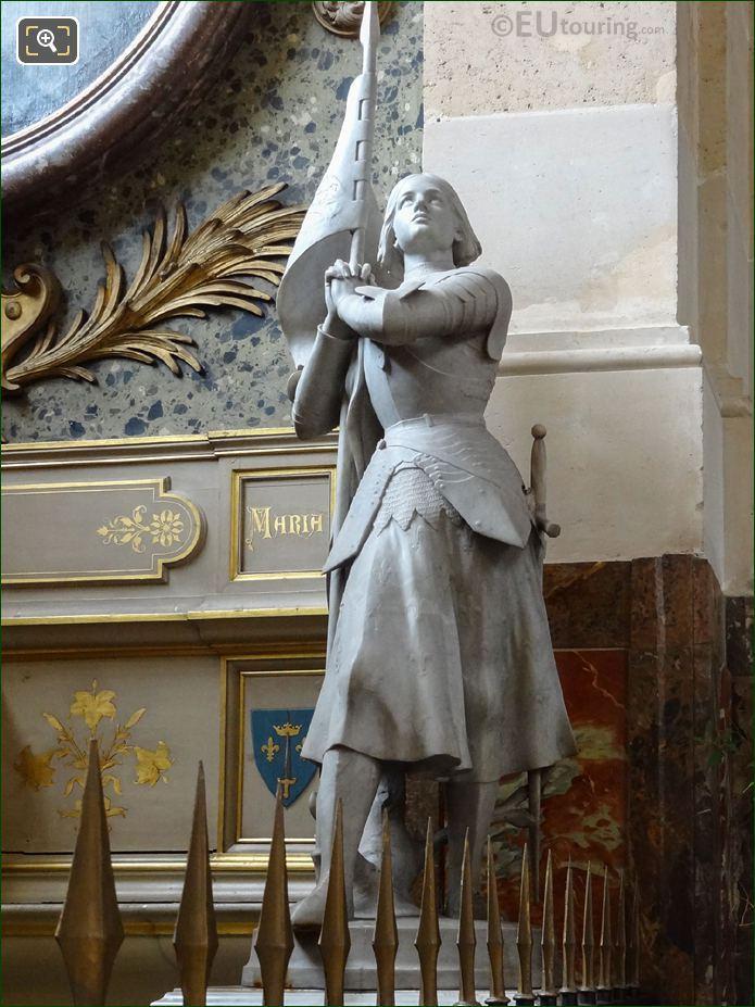 Sainte Jeanne d'Arc Statue In Chapelle Saint Francois De Sales