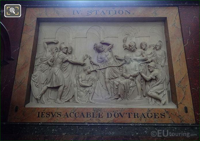 Jesus Accable d'Outrages Sculpture In Chapelle Saint Francois De Sales