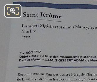 Tourist Information Board For Saint Jerome Statue