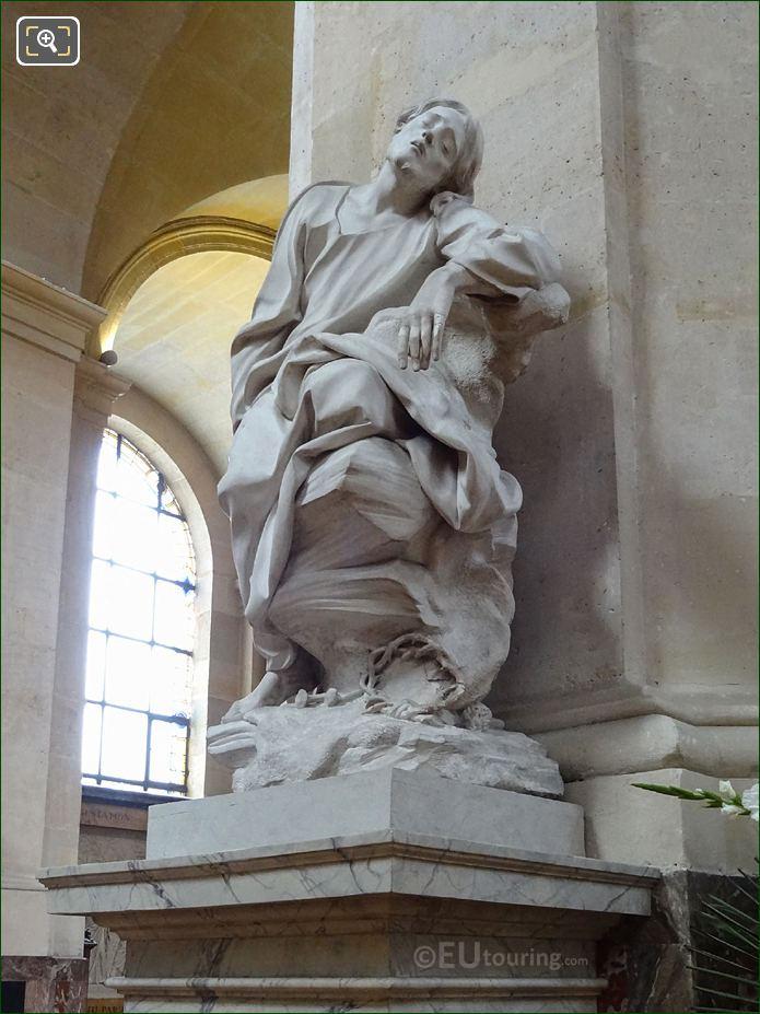 La Chapelle Du Calvaire With Jesus Au Jardin Des Oliviers Statue