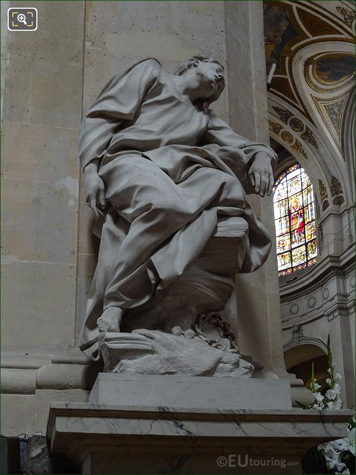 Jesus Au Jardin Des Oliviers Statue In Eglise Saint-Roch