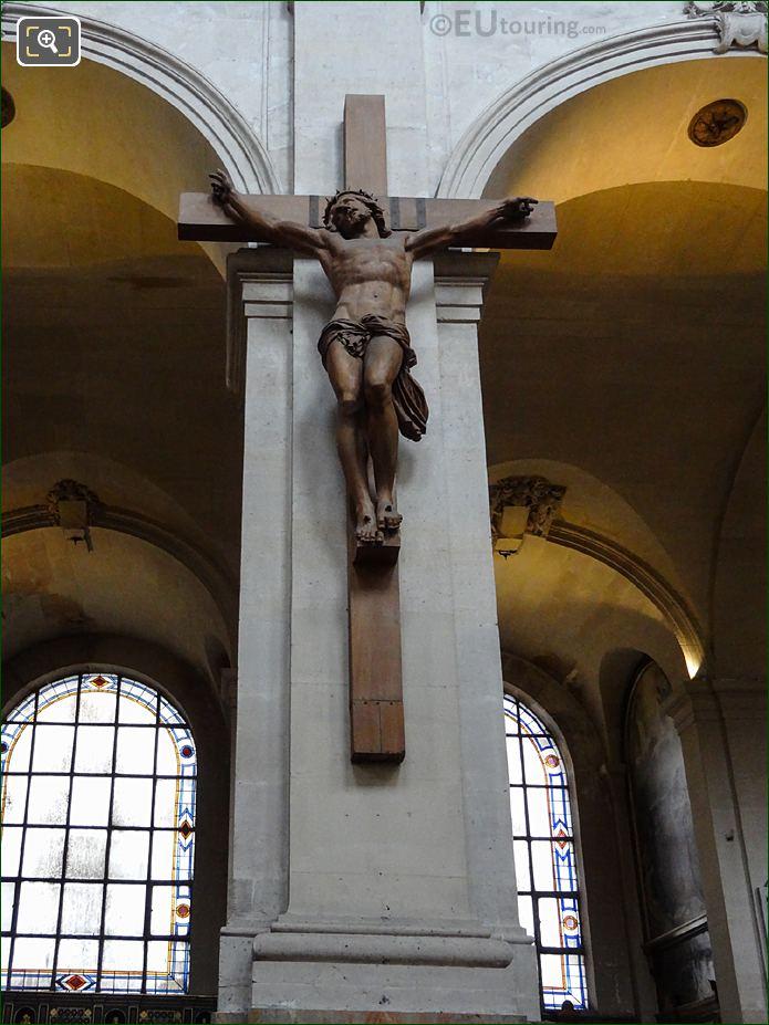 Christ On The Cross Sculpture Inside Eglise Saint-Roch