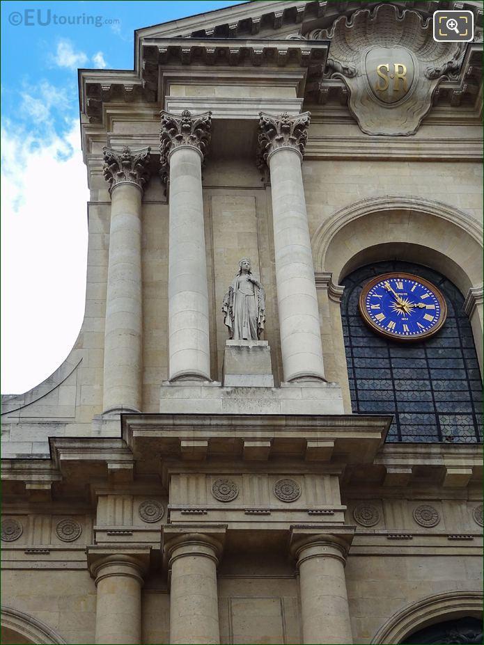 South Facade Of Eglise Saint-Roch With Sainte Clotilde Statue