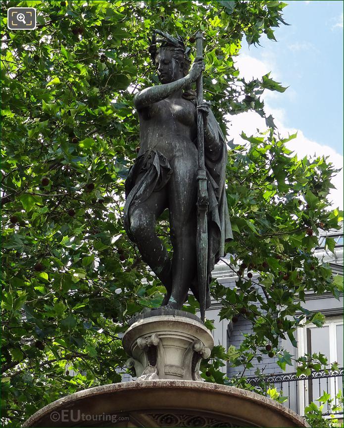 Nymphe Marine Statue On Fontaine Du Theatre-Francais Nymphe Marine